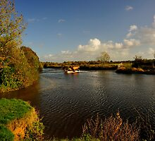 The Ford At Eyemead On The River Stour by delros