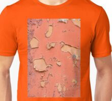 Brown old obsolete cracked paint texture Unisex T-Shirt
