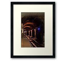 Grungy Subway Framed Print