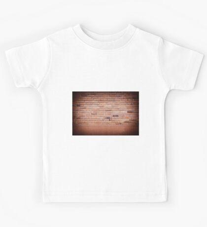 Dark red brick wall abstract  Kids Tee