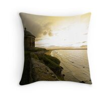 """""""Temple on the cliff"""" Throw Pillow"""