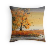 October Breezes Throw Pillow