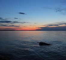 Lake Winnipeg - After the Sun Sets by Vickie Emms