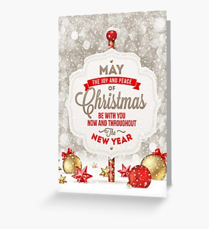 Joy and Peace Christmas Card Greeting Card