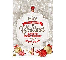 Joy and Peace Christmas Card Photographic Print