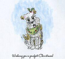 wishing you a pawfect christmas by mockbird