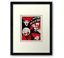 Thanks Drac - Black White and Red All Over Framed Print