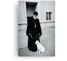 The Bishop and his Dog Canvas Print