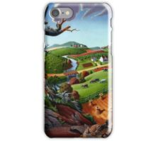 Appalachian Fall Thanksgiving Wheat Field Harvest Farm Landscape iPhone Case/Skin