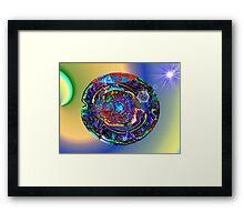 Three Layer Abstract: Sun Shield (110817) Framed Print