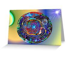 Three Layer Abstract: Sun Shield (110817) Greeting Card