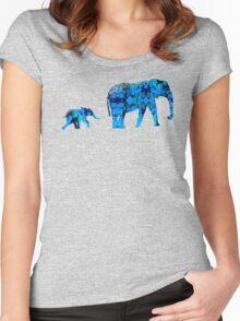 Inkblot Elephants Women's Fitted Scoop T-Shirt