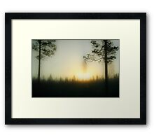 Foggy Sunrise Framed Print