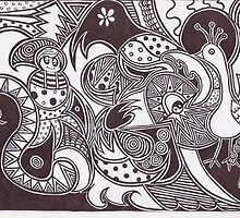 my zendoodle design by terrieball