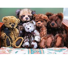 Teddies in a huggle! Photographic Print
