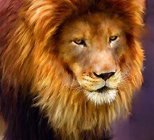 African Lion portrait by Michael Greenaway