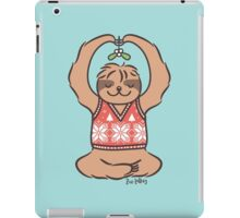 Christmas Kiss Sloth with Mistletoe iPad Case/Skin