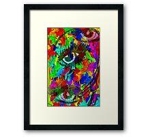 Eyes of color Framed Print