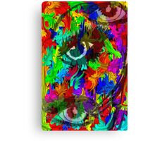 Eyes of color Canvas Print