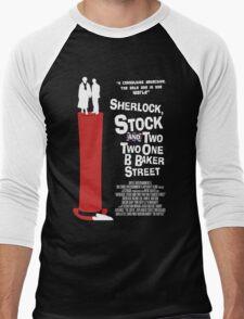 Sherlock, Stock and 221B Baker Street Men's Baseball ¾ T-Shirt