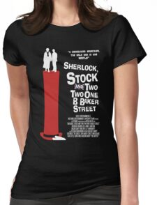 Sherlock, Stock and 221B Baker Street Womens Fitted T-Shirt