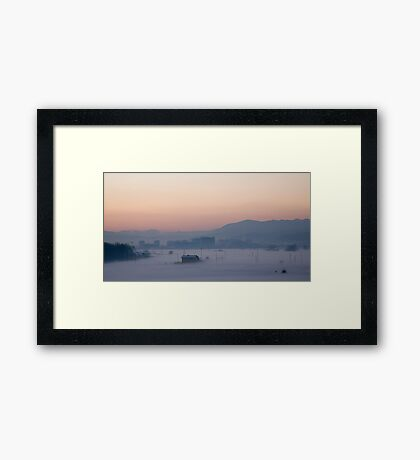 Icy mist Framed Print