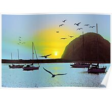 Sunset in Morro Bay Poster