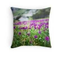 the nature garden after the snow Throw Pillow