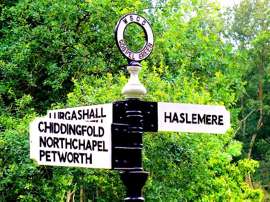 Turn Right For Haselmere ! by Colin J Williams Photography