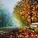 Autumn Park - Leonid Afremov by Leonid  Afremov
