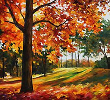 Autumn Forest - Leonid Afremov by Leonid  Afremov