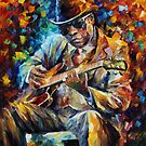 John Lee Hooker - Leonid Afremov by Leonid  Afremov
