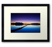 reflection of the sunset Framed Print