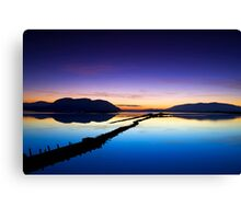 reflection of the sunset Canvas Print