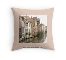 Ghent Greeting Throw Pillow