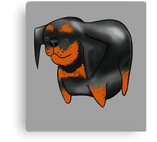 Cute Rottweiler Design   Canvas Print