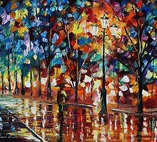 Walk in the park - Leonid Afremov by Leonid  Afremov
