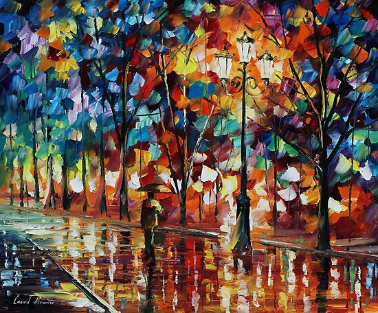 Walk in the park - Leonid Afremov by Leonid  Afremov