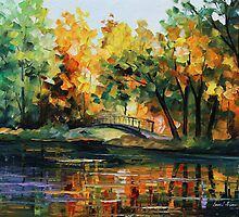 Little Bridge - Leonid Afremov by Leonid  Afremov