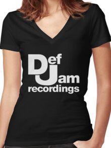 djrecs 2 Women's Fitted V-Neck T-Shirt