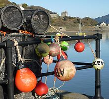 Lobster pots and Buoys in Barmouth, North Wales by Anna Myerscough