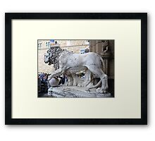 I don't care if your name is David Beckham, I am not passing the ball!! Framed Print
