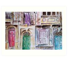 Maltese Facade Art Print