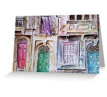 Maltese Facade Greeting Card