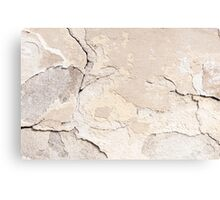 Old cracked paint texture broken wall  Canvas Print
