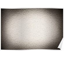 Grained paint white wall texture Poster