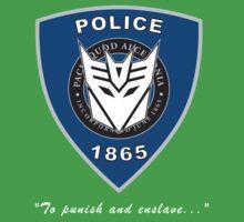 Transformers - Police Logo - Medium Size Logo One Piece - Short Sleeve