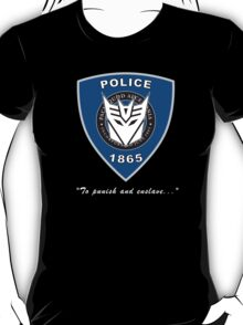 Transformers - Police Logo - Medium Size Logo T-Shirt