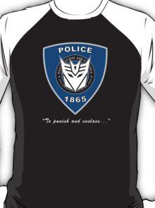Transformers - Police Logo - Medium Size Logo T-Shirt