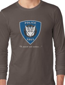 Transformers - Police Logo - Medium Size Logo Long Sleeve T-Shirt